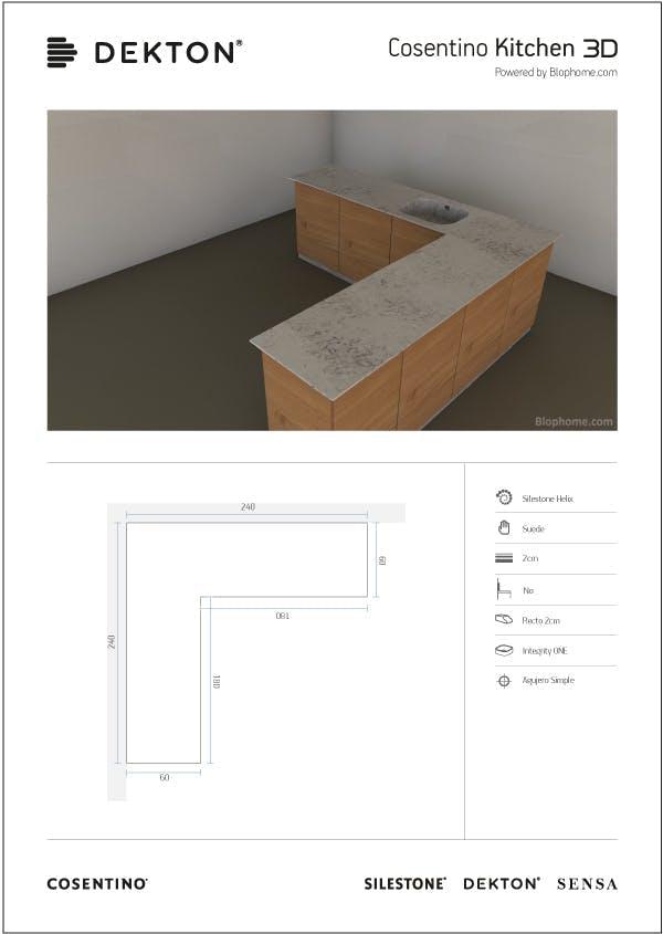 Image of 3dkitchen impresionpdf in 3D-Küche - Cosentino
