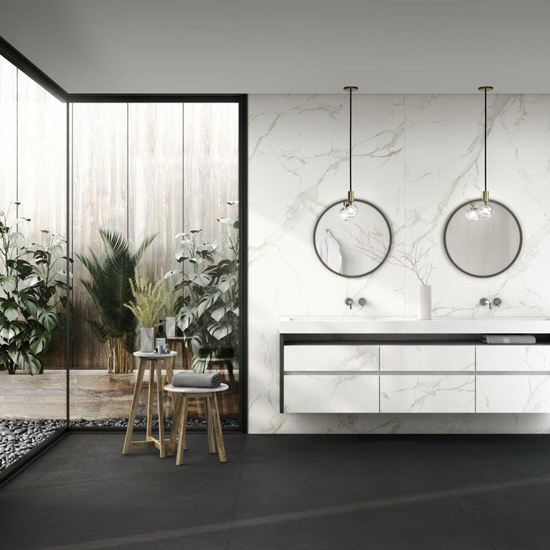 Dekton® Aura15 von Cosentino als Wandverkleidung und Schrankfront. Bildquelle: Cosentino