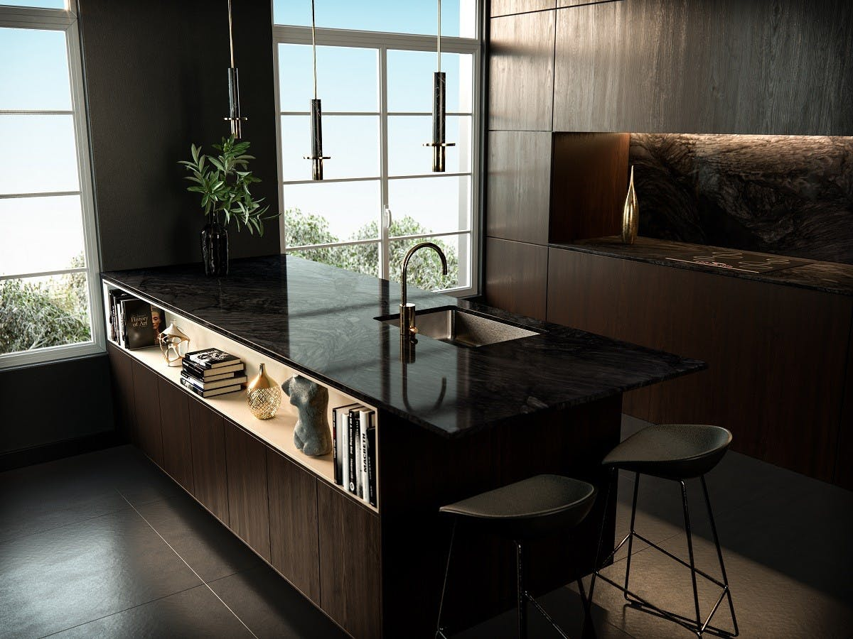 Image of cocina negra medida in Seven ideas to refresh your kitchen - Cosentino