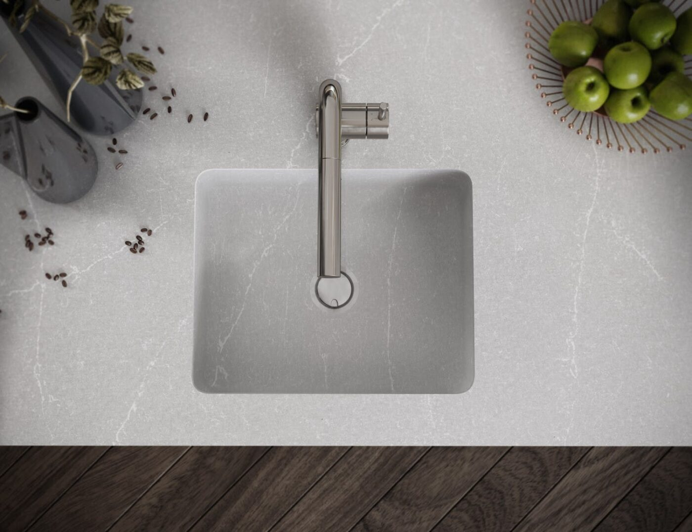 Image of Silestone Integrity Q Desert Silver in Kitchen Sinks - Cosentino
