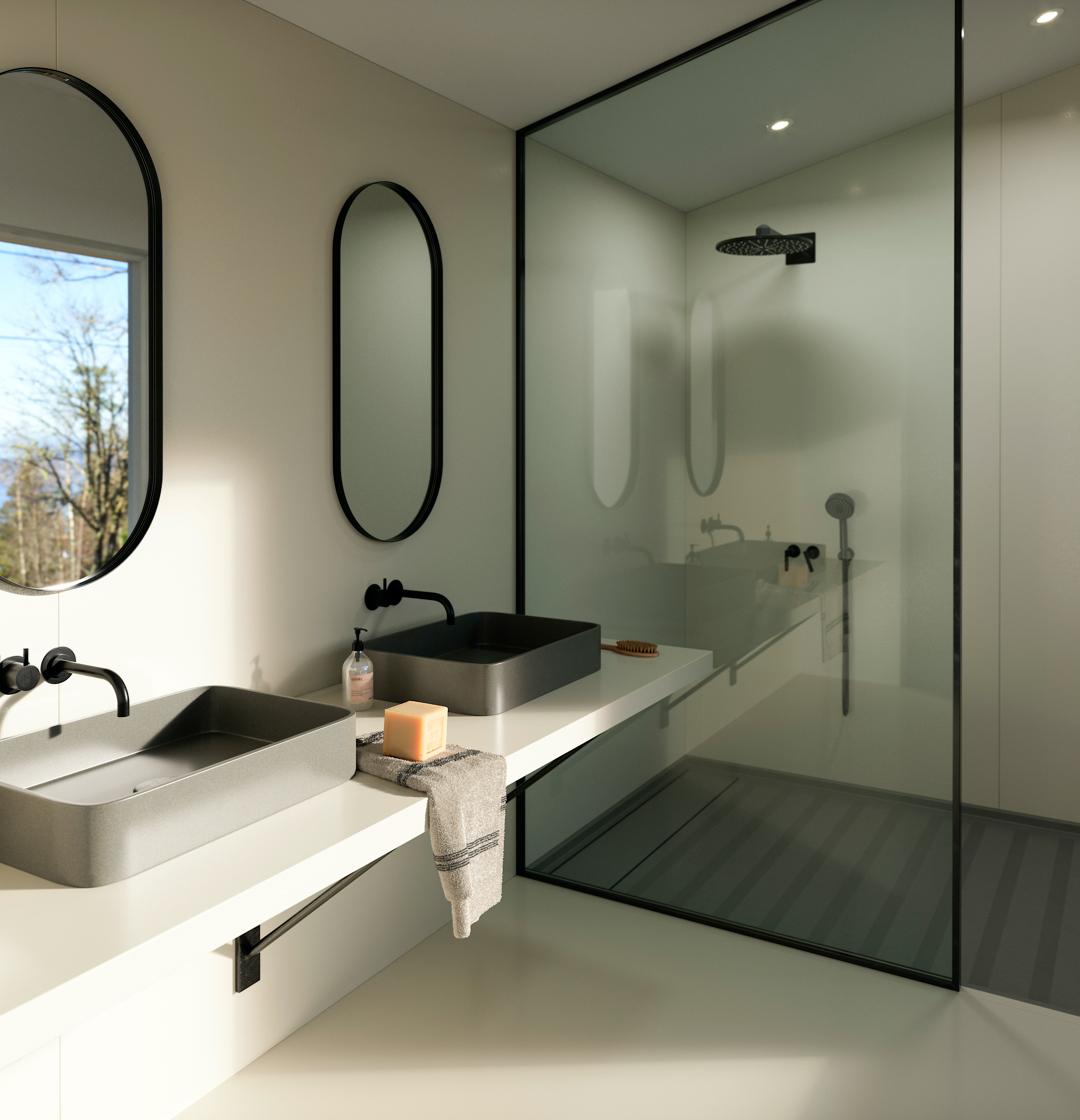 Image of Img Silestone Bathroom Faro White v2 in What is Silestone - Cosentino
