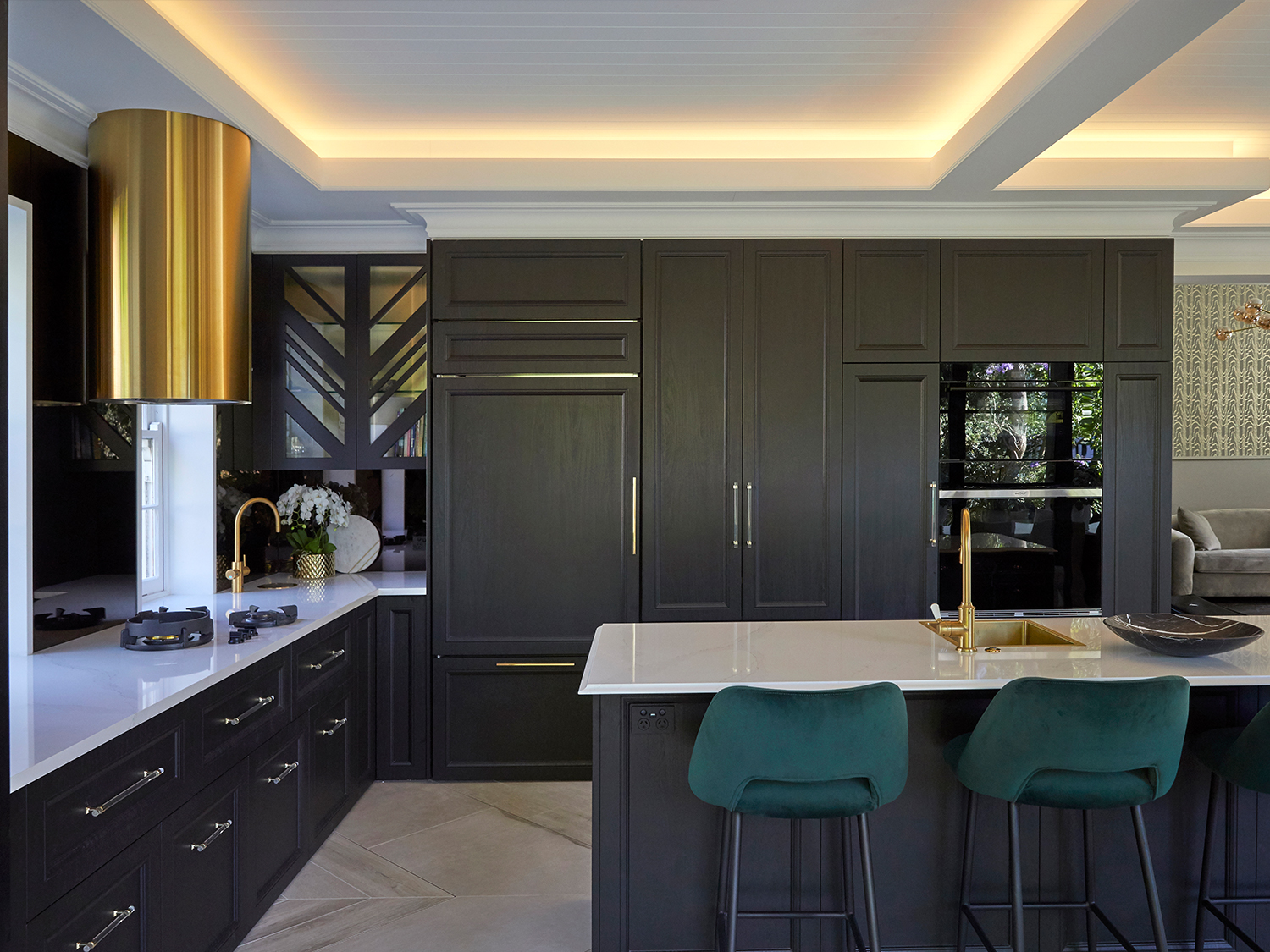 Image of Cosentino Greenwich Sarner Road7835 1 1 in Greenwich Kitchen - A showpiece kitchen for a family who loves to entertain - Cosentino