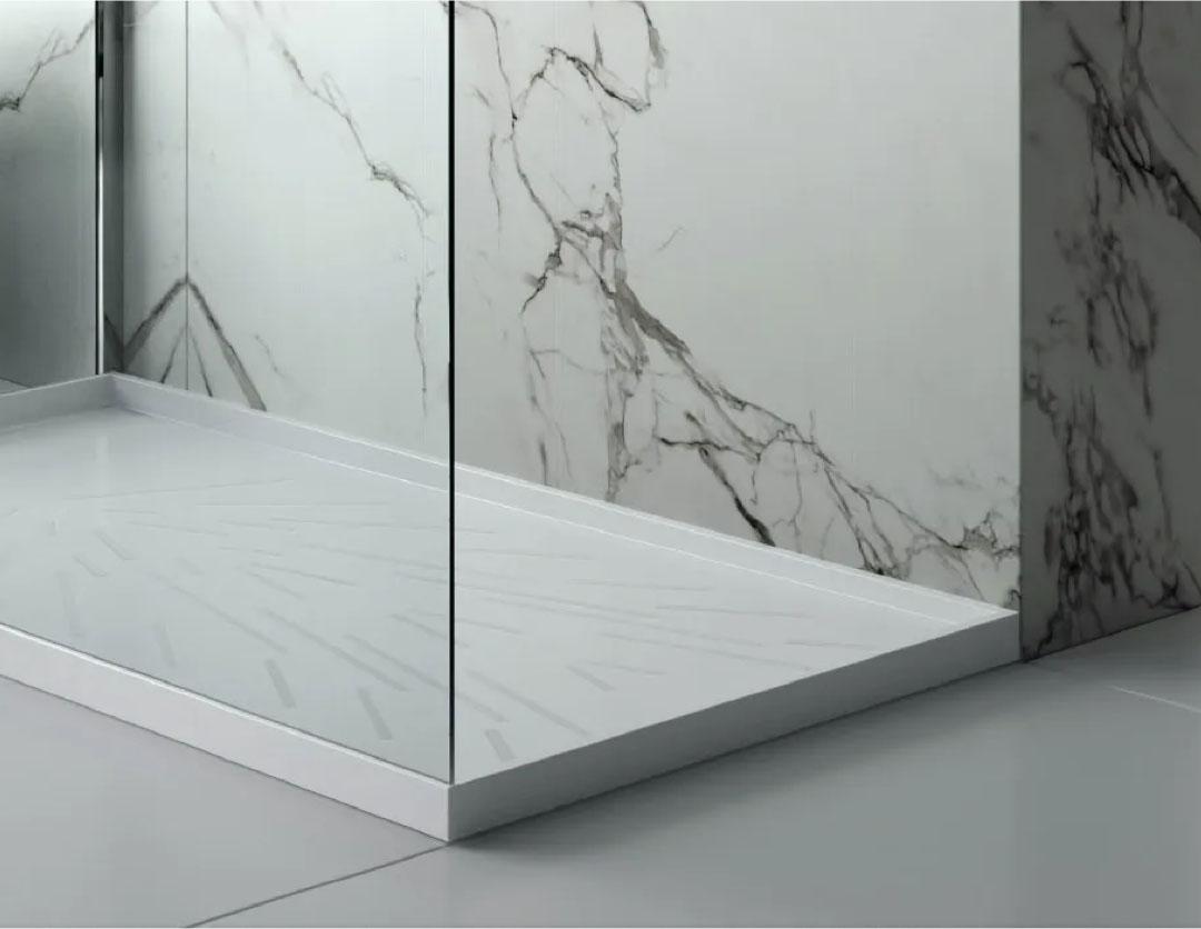 Image of Img Baños Reformas Coleccion Platos in Bathroom flooring - Cosentino