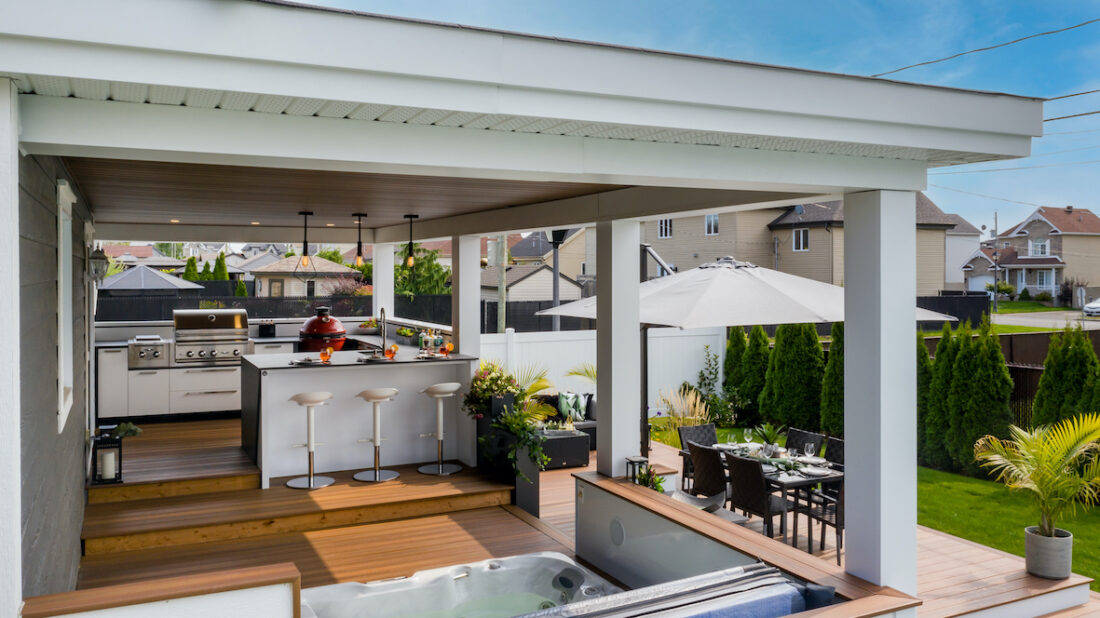 Image of DJI 0161 copie in Great Canadian Backyard Series: Station Grill transforms a Montreal backyard into a grilling oasis - Cosentino