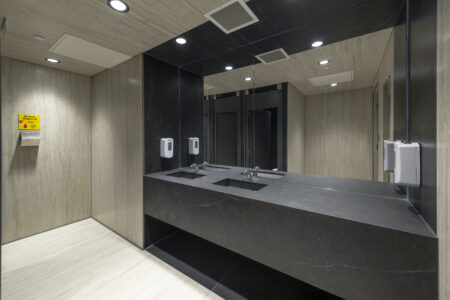 Image of WC overall sink area in Silestone® launches new sustainable Ethereal Collection inspired by beautiful natural marble - Cosentino