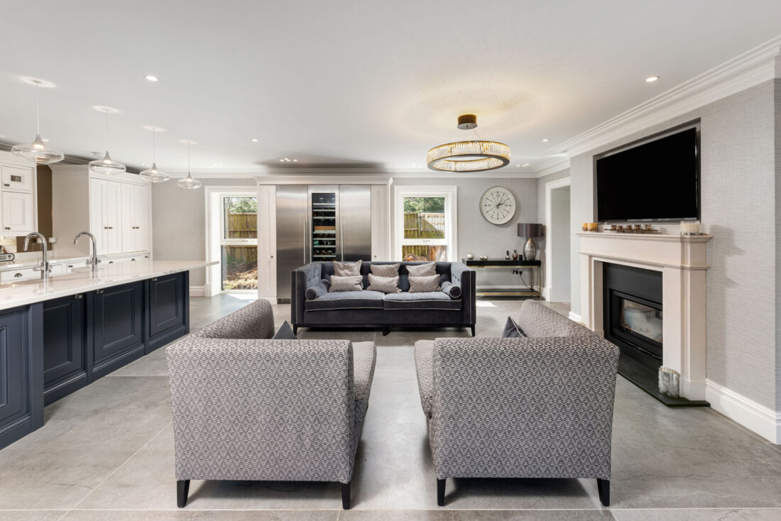 Dekton Flooring and Kitchen Worksurfaces Add Timeless Elegance to This Classic Family Home