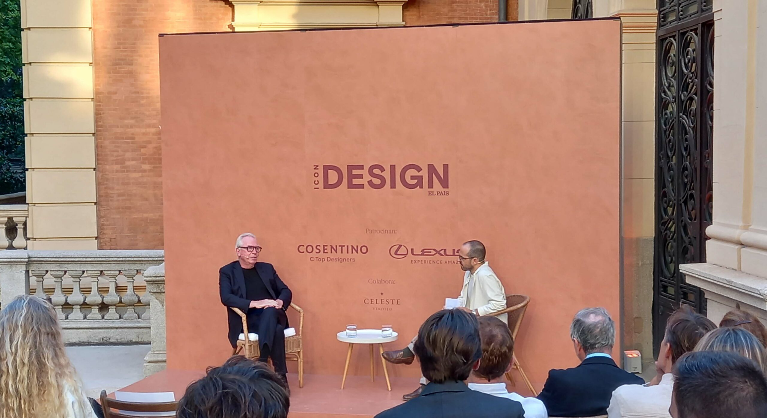 Image of David Chipperfield y Daniel García Evento ICON Design escenario Dekton by Cosentino web scaled 1 in Cosentino sponsors Madrid's ICON Design event featuring renowned architect, David Chipperfield - Cosentino