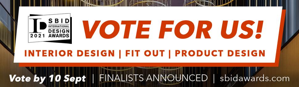 Image of Newsletter Banner VOTE FOR US in Vote for Silestone Sunlit Days in the SBID International Design Awards 2021 - Cosentino