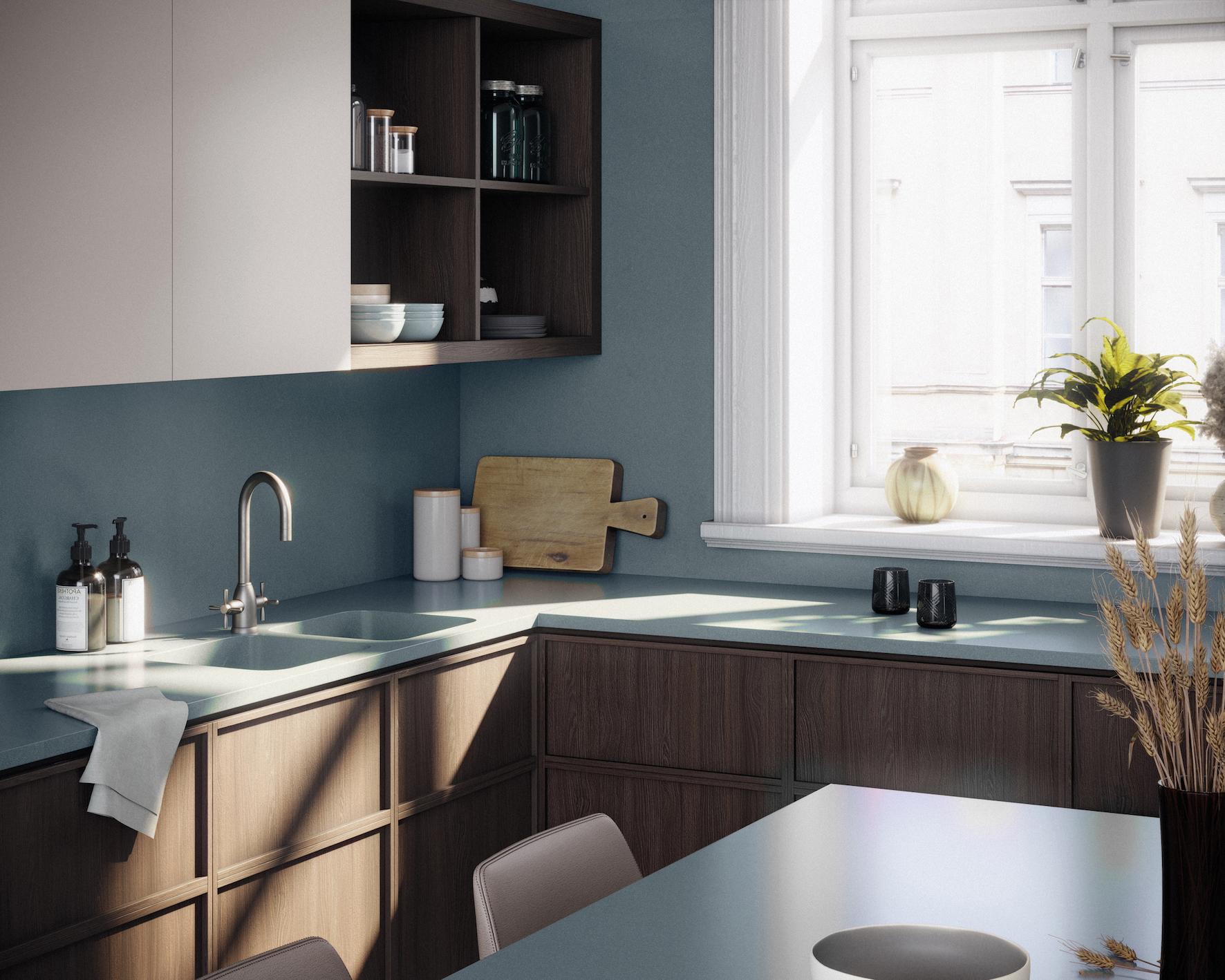 Image of Silestone Sunlit Days Cala Blue Kitchen Lifestyle in Vote for Silestone Sunlit Days in the SBID International Design Awards 2021 - Cosentino
