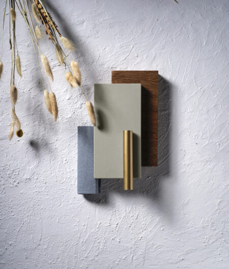 Image of 1. Silestone Sunlit Days Cincel Grey Moodboard in Sunlit Days Longlisted in Designer Awards 2021 - Cosentino