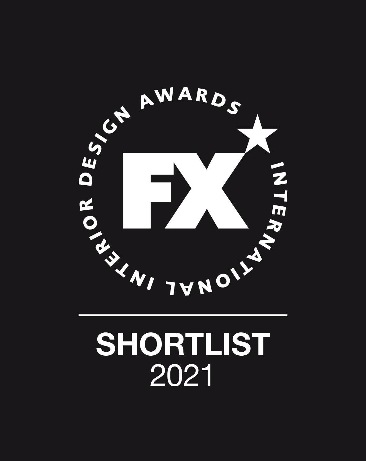 Image of FX Awards Shortlist 2021 black in FX International Interior Design Awards Recognises Silestone Sunlit Days as a Finalist - Cosentino