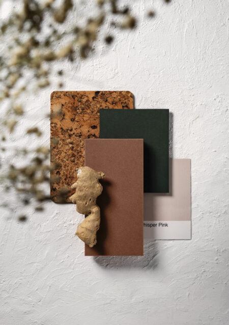 Image of Silestone Sunlit Days Arcilla Red Moodboard in FX International Interior Design Awards Recognises Silestone Sunlit Days as a Finalist - Cosentino