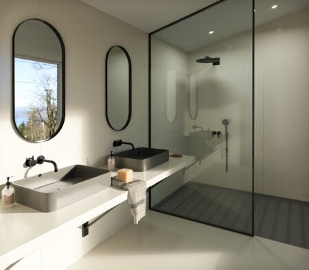 Image of Silestone Sunlit Days Faro White Bathroom Lifestyle in FX International Interior Design Awards Recognises Silestone Sunlit Days as a Finalist - Cosentino