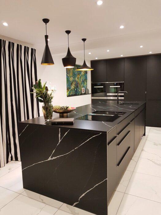 Image of Kitchen Scene Interiors Silestone Marquina Fabricated by Finch Granite 2 2 in Home Cosentino - Cosentino