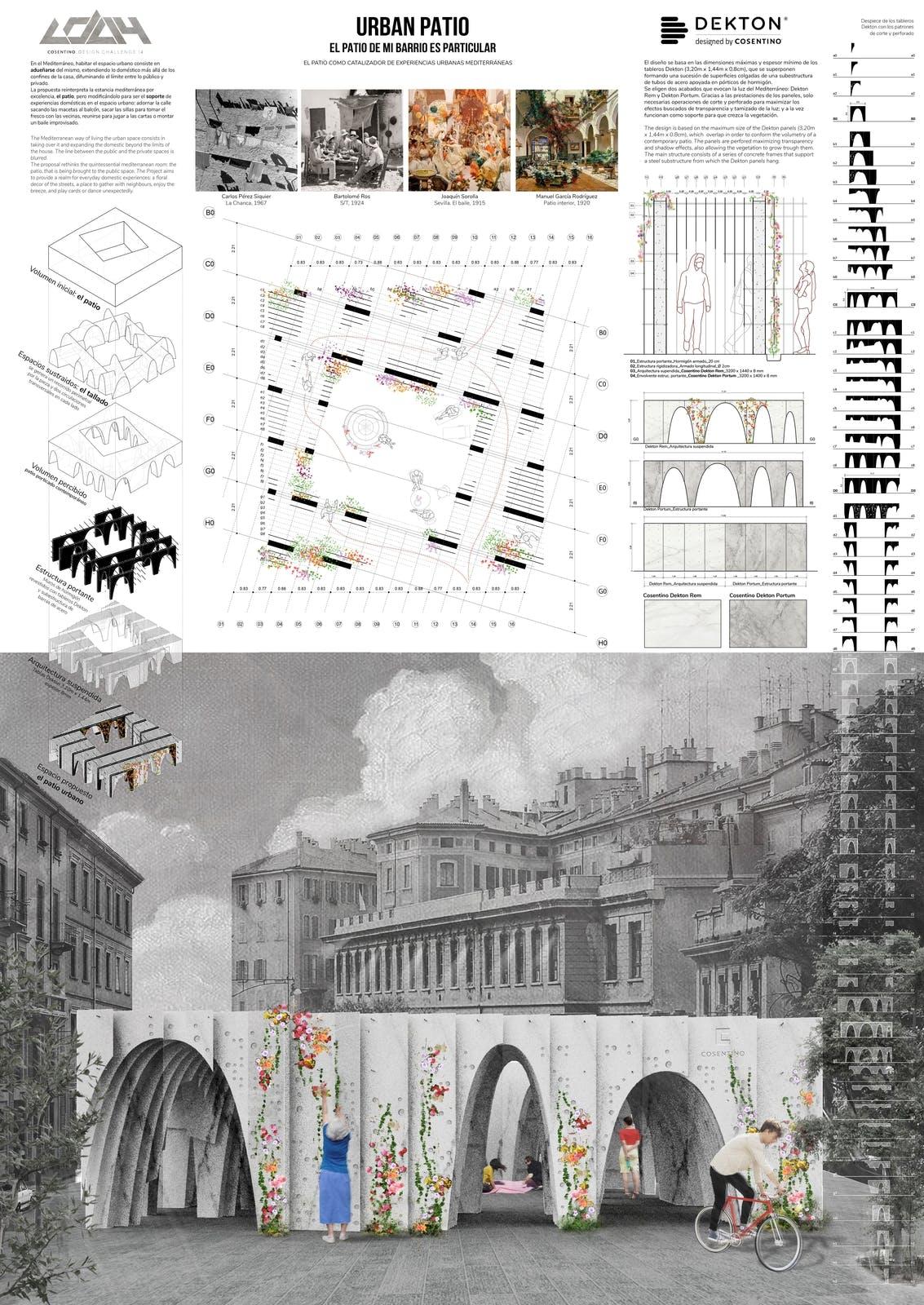 Image of 067 URBAN PATIO s 1 in Ganadores Cosentino Design Challenge 14 - Cosentino