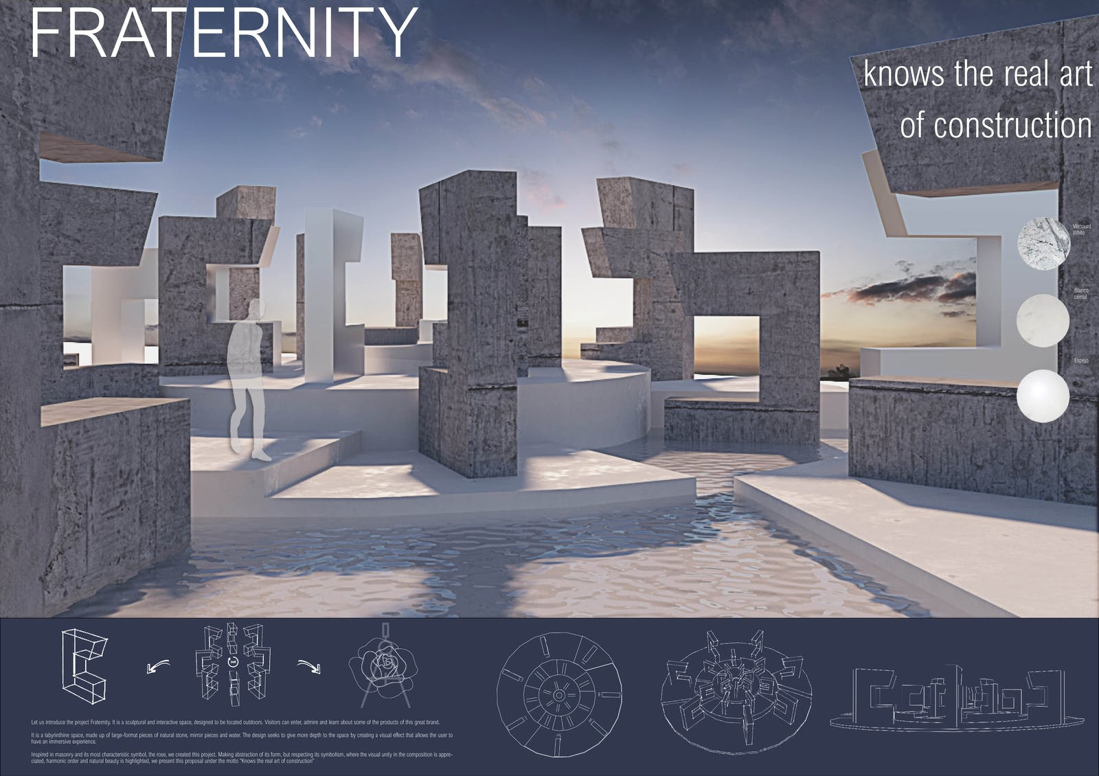 Image of 084 Fraternity s 1 in Ganadores Cosentino Design Challenge 14 - Cosentino
