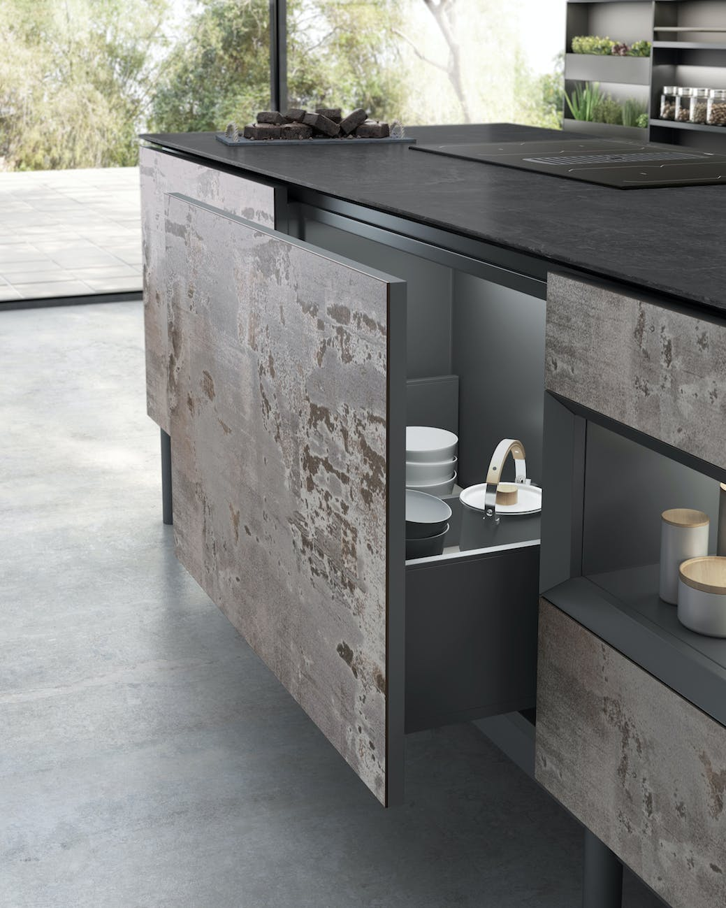 Image of 1 Dekton Kitchen Trilium Cupboards 1 in Dekton Slim, finalista en los SBID Product Design Awards - Cosentino