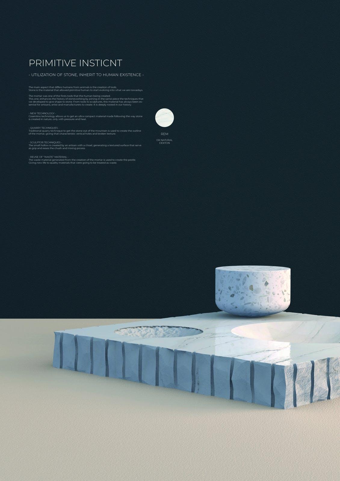Image of 149 Primitive Instinct s 1 in Ganadores Cosentino Design Challenge 14 - Cosentino