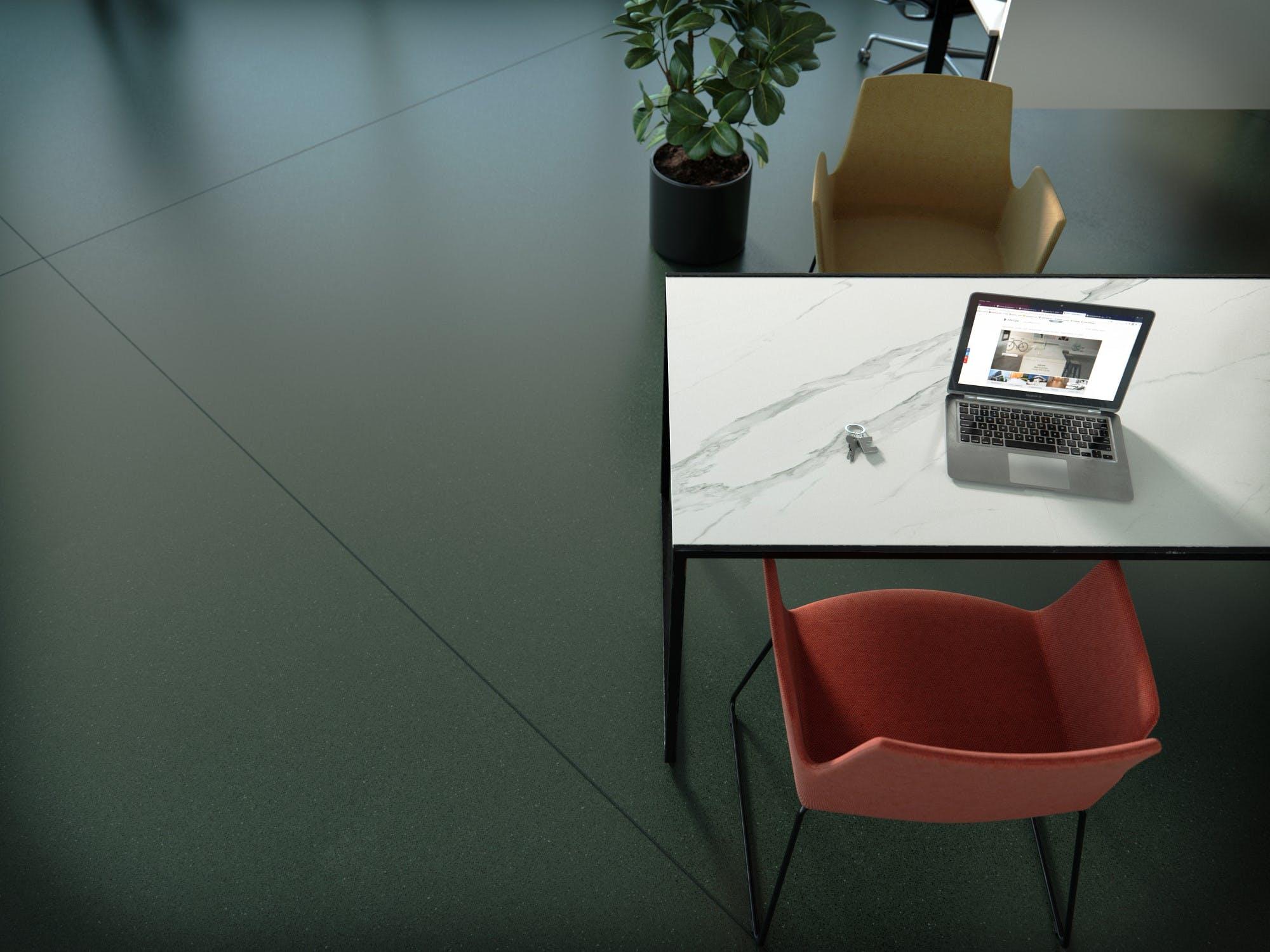 Image of Dekton Office Detalle Feroe baja in Dekton® lanza un azul y verde oscuros que otorgan elegancia a cualquier espacio - Cosentino