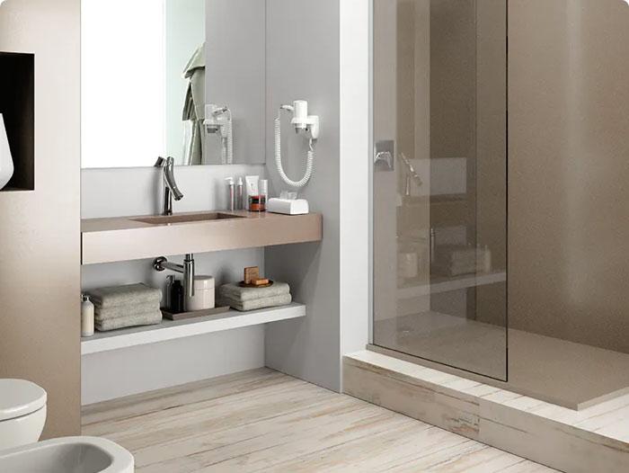 Image of Img Baños Encimeras interesarte 2 in Comptoirs de salle de bains - Cosentino