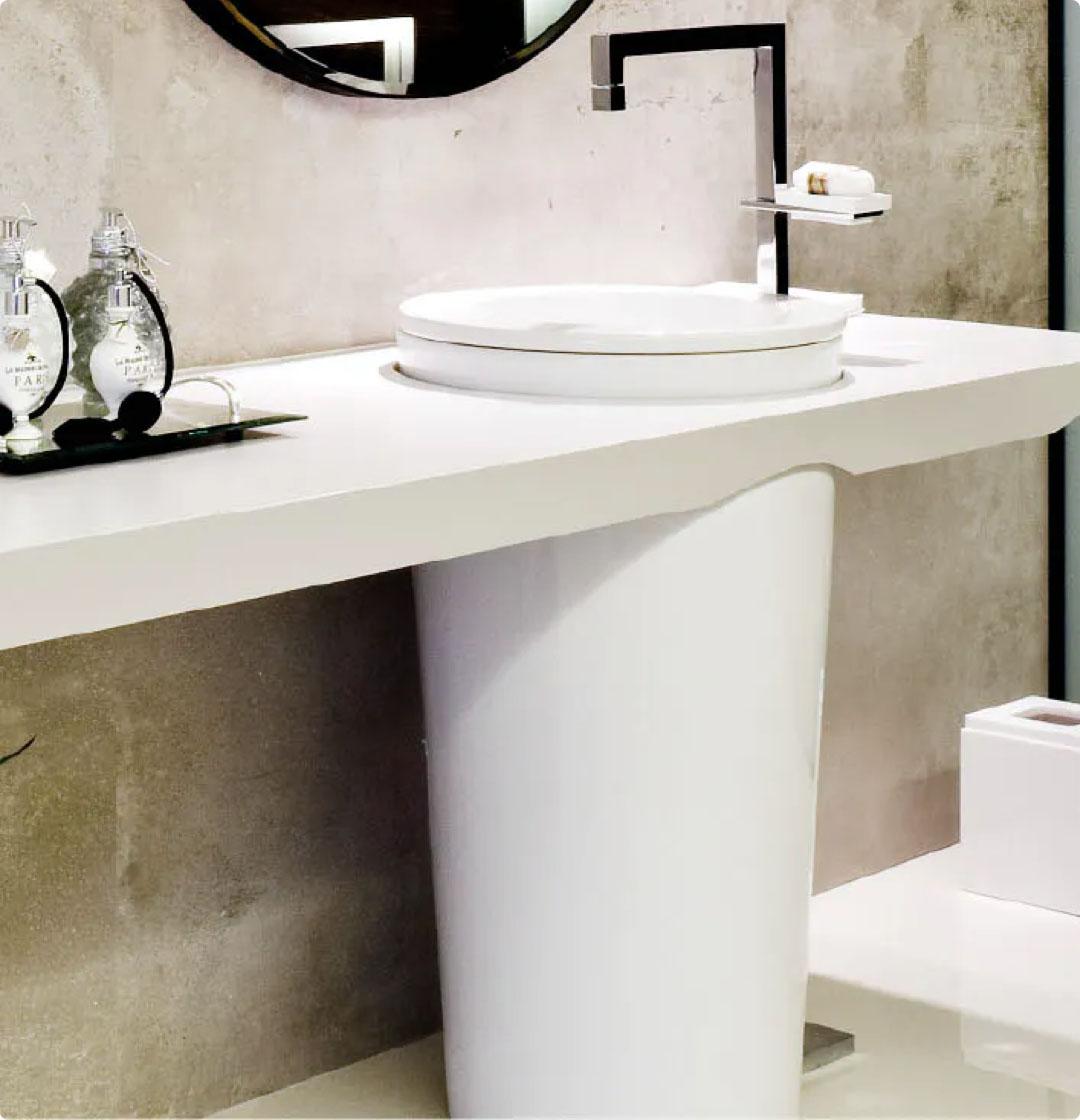 Image of Img cabecera Baños Encimeras in Comptoirs de salle de bains - Cosentino