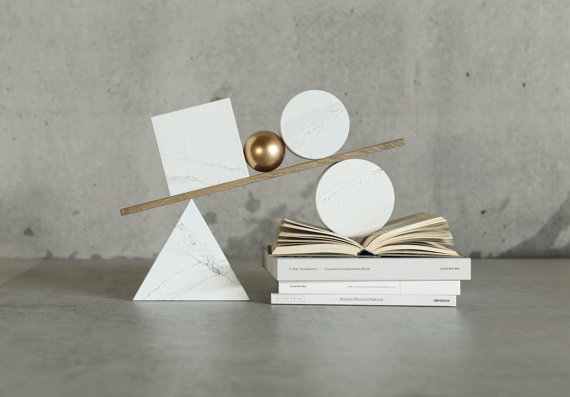 Image of Bodegon Ethereal Encuadrado in Silestone® lance la nouvelle collection durable Ethereal, inspirée du magnifique marbre naturel - Cosentino
