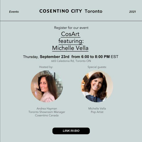 Image of 242086796 1152884648533387 6198580354526097020 n in Cosentino présentera les œuvres de l'artiste pop Michelle Vella à Toronto! Showroom CosArt Événement - Cosentino