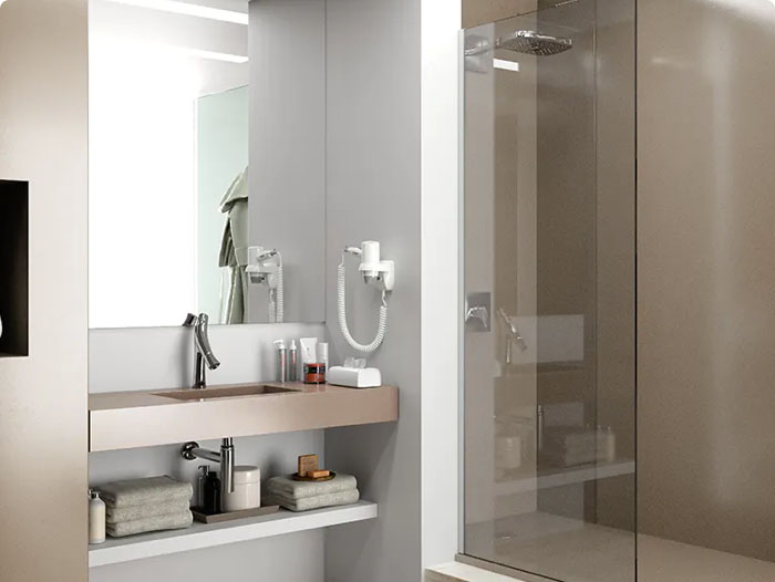 Image of img banos revest interesarte 3 in Dallage de salle de bains - Cosentino