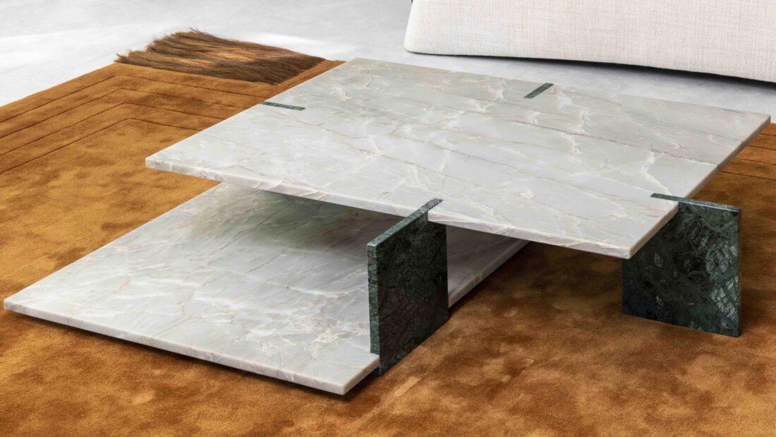 Les surfaces Sensa et Scalea by Cosentino sélectionnées par Laurent Maugoust et Cécile Chénais pour équiper du mobilier d'exception