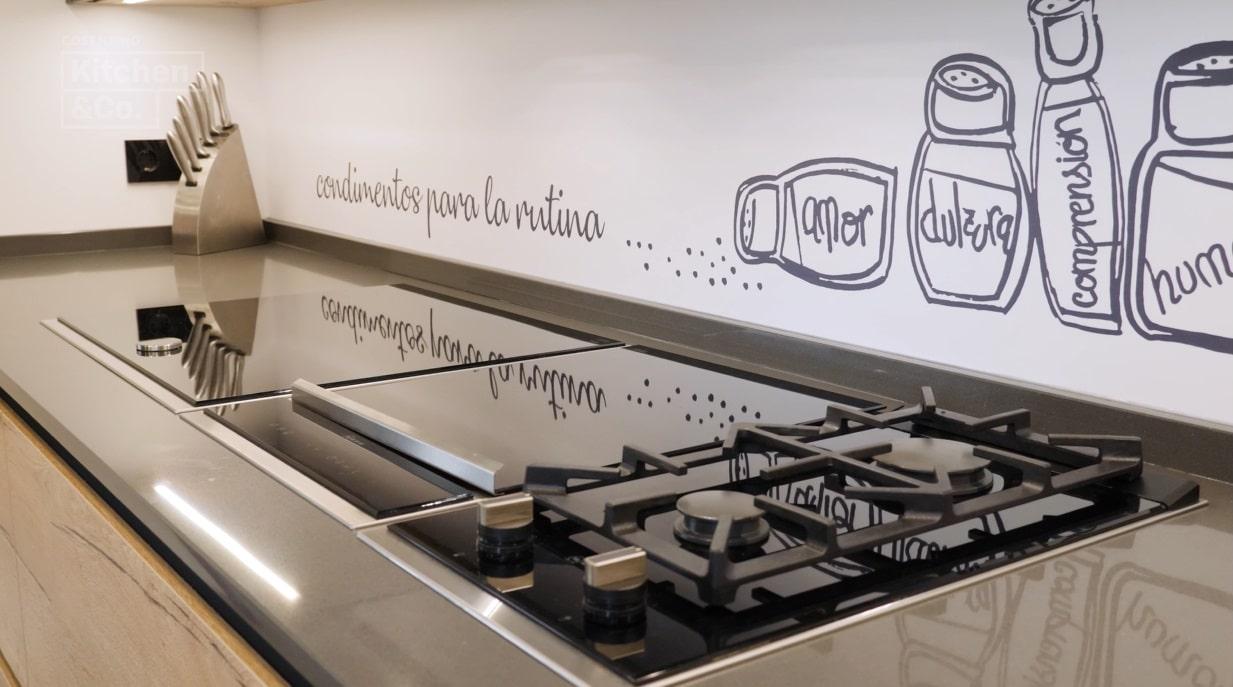 Image of KCo cocina con península 6 in Trend: L-eilandkeukens - Cosentino