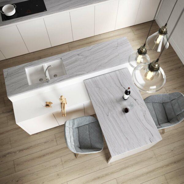 Image of Sensa by Cosentino White Macaubas in Sete ideias para refrescar a sua cozinha - Cosentino