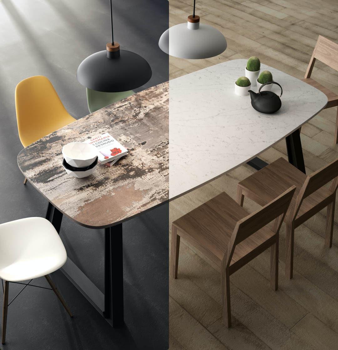 Image of mesa bicolor in Mobiliário - Cosentino