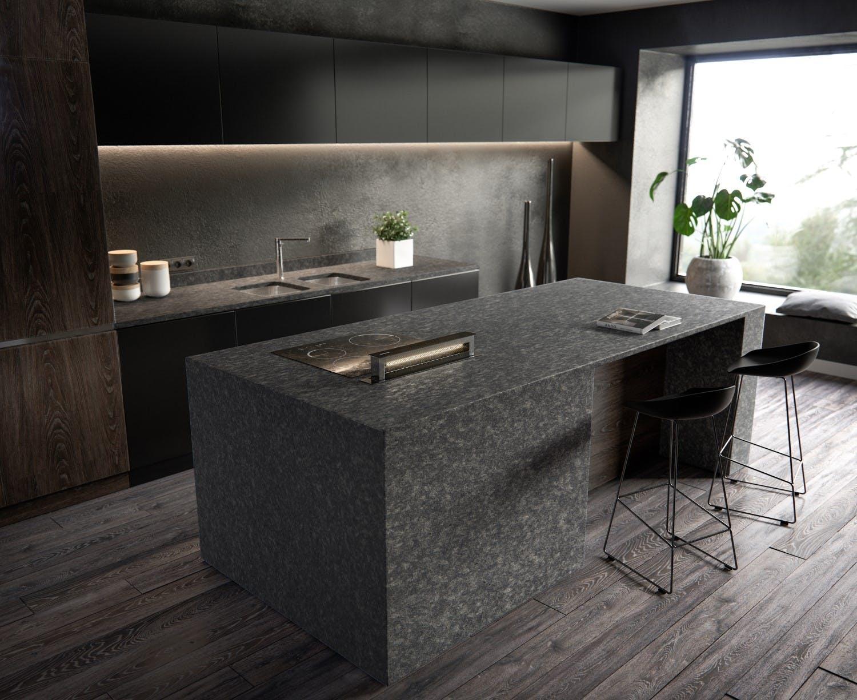 Image of Sensa Kitchen Graphite Grey lr in Sensa   Worktops - Cosentino
