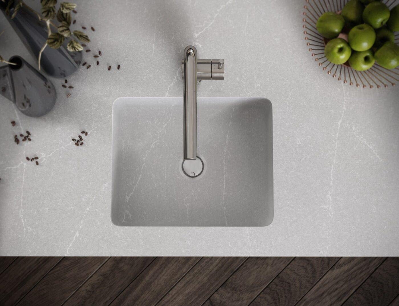 Image of Silestone Integrity Q Desert Silver in Lava-loiças de cozinha - Cosentino