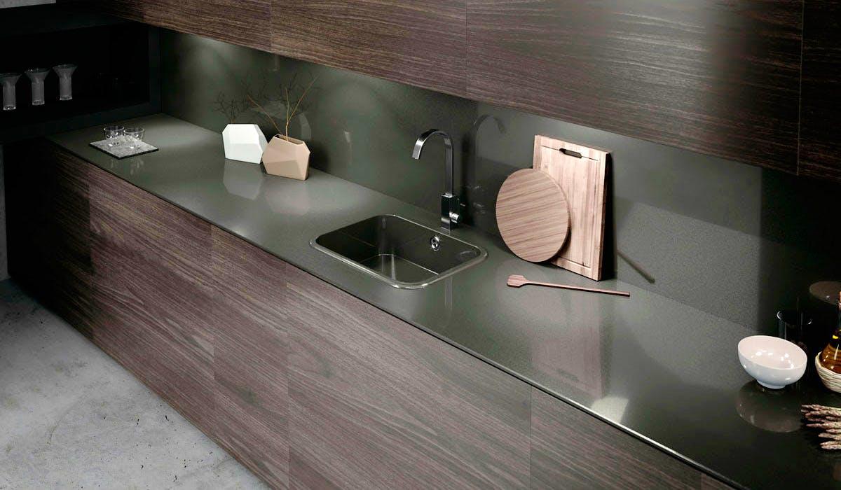 Image of ambiente integrity top cemento spa 2 in Lava-loiças de cozinha - Cosentino