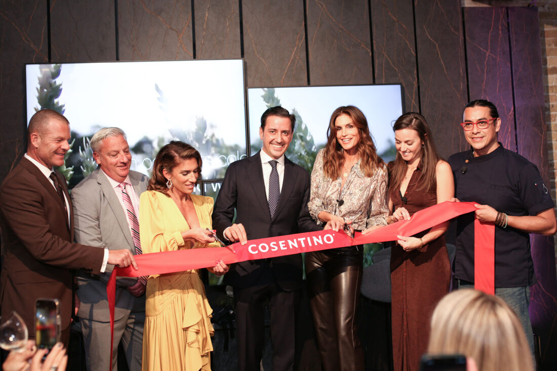 Cosentino celebrates Chicago City Center Grand Opening with fashion icon Cindy Crawford