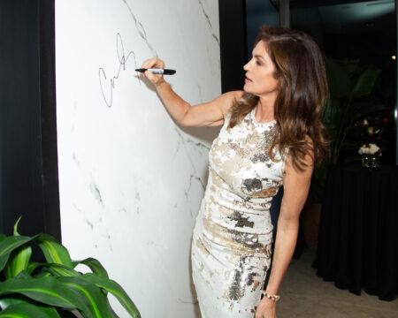 Image of 1. Cosentino Atlanta City Center Grand Opening Cindy Crawford Slab Signature in Home Cosentino - Cosentino