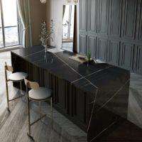 Image of Silestone Kitchen Eternal Noir 200x200 1 in Trendspotter: Denise McGaha's Lilac kitchen with Silestone® Eternal series - Cosentino