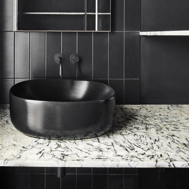 Image of ejemplo baño piedra natural1 compressor 800x800 1 in Black shower trays - Cosentino