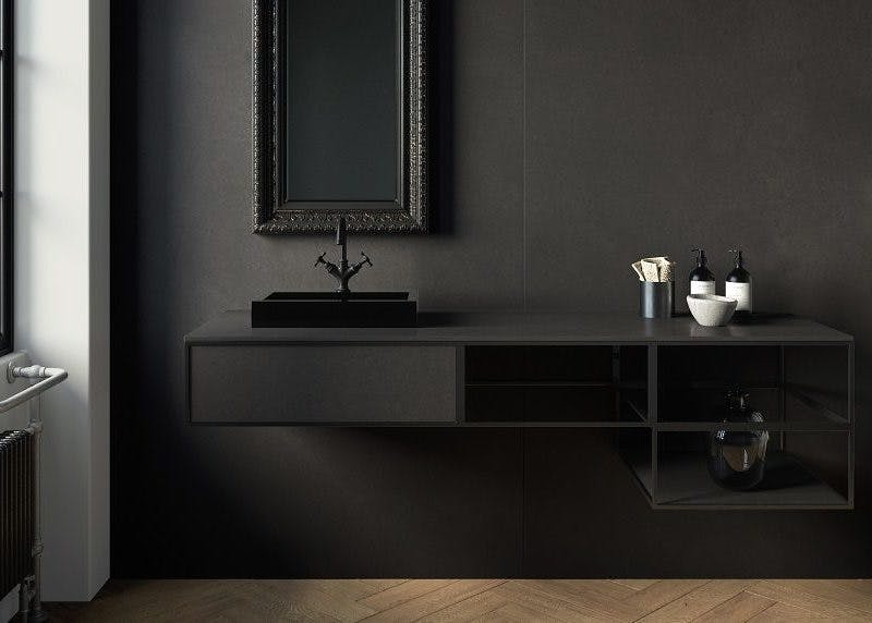 Image of lavabo sobre encimera baño 800x572 1 in Black shower trays - Cosentino