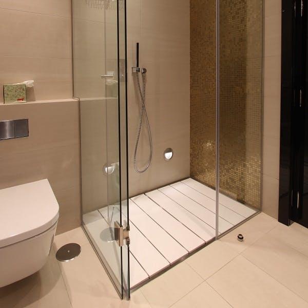 Image of plato ducha blanco pequeno in White shower trays - Cosentino