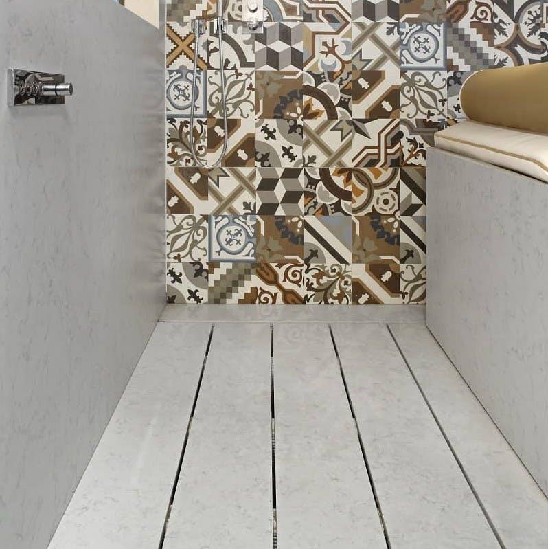Image of plato ducha gris mosaico in Grey shower trays - Cosentino