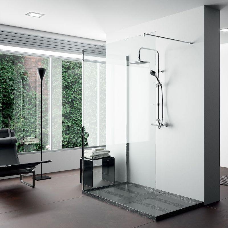 Image of plato ducha negro amplio 1 in Black shower trays - Cosentino