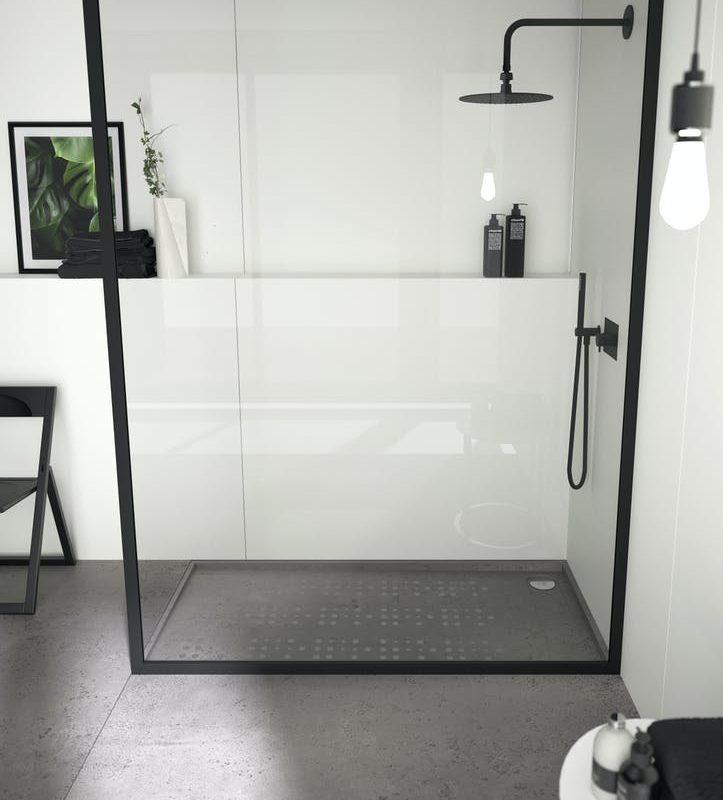 Image of plato ducha negro esquina 1 723x800 1 in Black shower trays - Cosentino