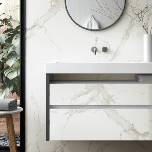 Image of Dekton Bathroom Aura 15 Detalle 1 in Small bathrooms: the great secrets of their design - Cosentino