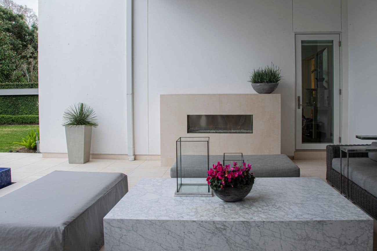 Image of Dekton Danae Fireplace residential Leiva3 in The welcoming warmth of home that only a fireplace can offer - Cosentino