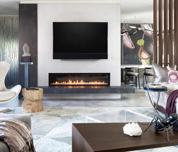 Image of Dekton Marc Thee House kelya fireplace in The welcoming warmth of home that only a fireplace can offer - Cosentino