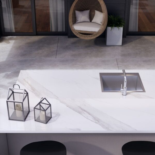 Image of Dekton Outdoor Countertop Olimpo Flooring Keon in Spring at home: let's make the most of it! - Cosentino
