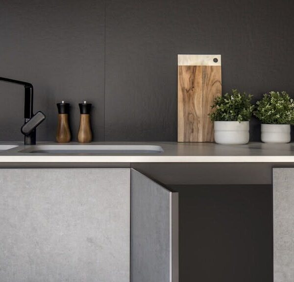 Image of Dekton Slim Kitchen Furniture 1 3 in How to organize your kitchen… and keep it that way - Cosentino
