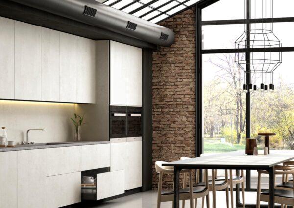 Image of Dekton Slim Kitchen Lunar in Modular kitchens: practical and versatile - Cosentino
